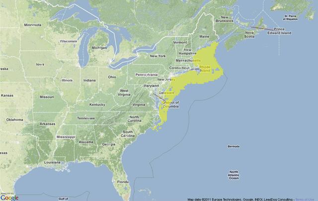 Monkfish location map
