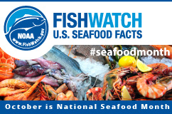 October Seafood Month Horizontal Web Badge