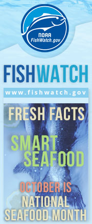 October Seafood Month Vertical Web Badge