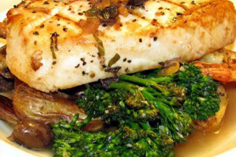 Cooked North Atlantic swordfish