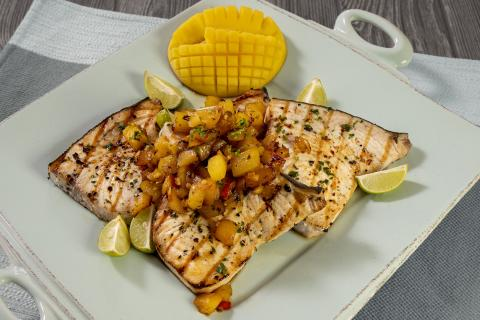 Grilled swordfish with mango chutney. Courtesy of the Florida Department of Agriculture and Consumer Service.
