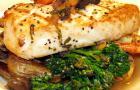 Swordfish seafood dish.
