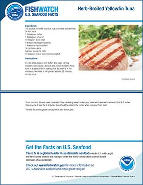 Thumbnail image of yellowfin tuna recipe card